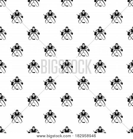Hockey goalkeeper pattern seamless in simple style vector illustration
