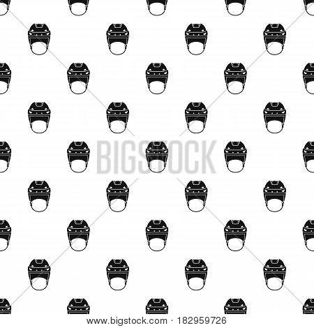 Hockey helmet pattern seamless in simple style vector illustration
