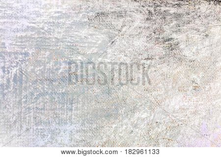 Grunge Abstract Hand Painted White Canvas Background