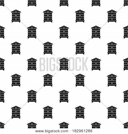 Hive pattern seamless in simple style vector illustration