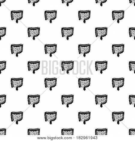 Intestines pattern seamless in simple style vector illustration