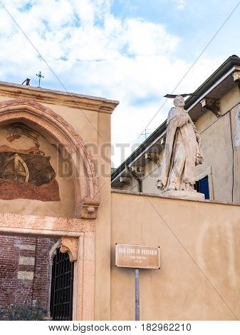Walls Of Church Of San Zeno In Oratorio In Verona