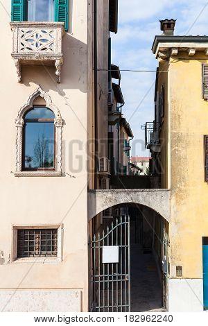 Narrow Back Street In Verona City