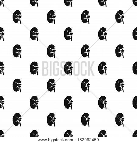 Kidney pattern seamless in simple style vector illustration