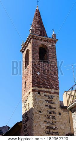 Tower Of Evangelical Church In Verona City