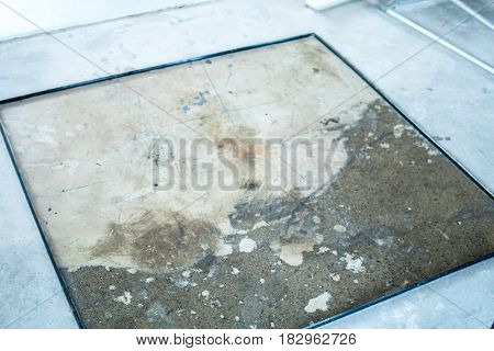 Terrazzo floor mold prepare to put the cement in it