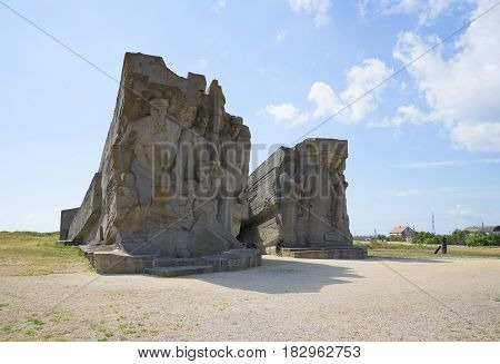 ADZHIMUSHKAI, CRIMEA - JUNE 05, 2013: At the entrance of the adzhimushkay quarry