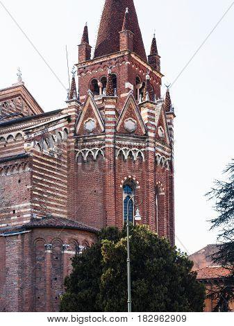 Apse Of Chiesa Di San Fermo Maggiore In Verona