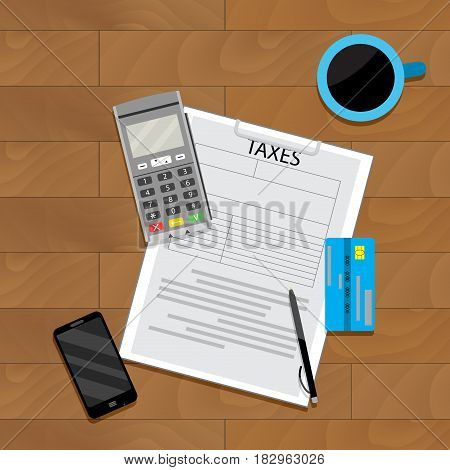 Finance economy taxation vector accounting banking illustration