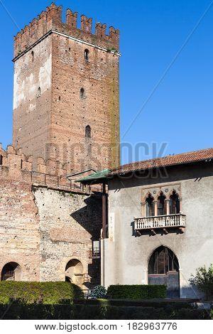 Tower And Museum Bulding Of Castelvecchio Castel