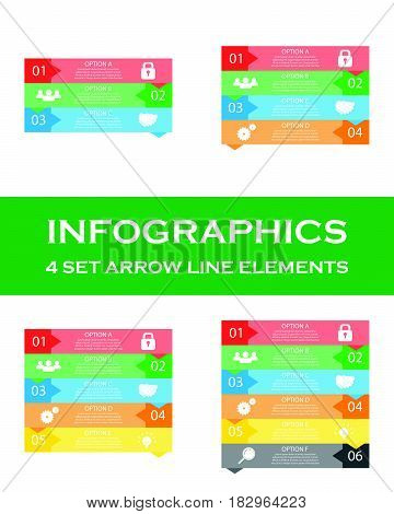 Vector up arrows infographic diagram graph presentation competition chart. Business performance concept with 3 4 5 6 options parts steps processes. Infographics growth data pedestal.
