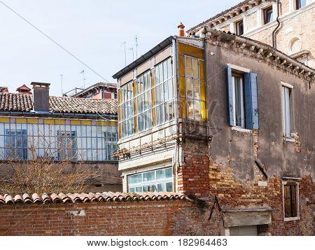 Living Houses In Residential Quarter Of Venice