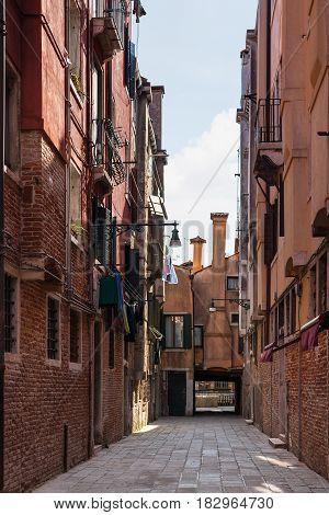 Street On Campo Dei Frari In Venice City