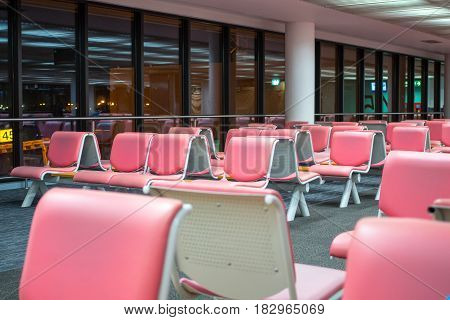 Pink Airport Chair For customers who need to fly out of the country.