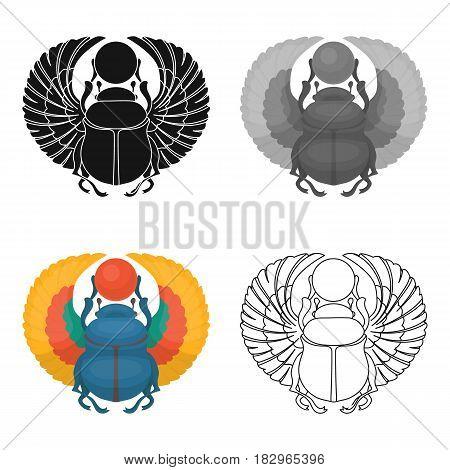 Egyptian beetle ancient egyptsingle icons in cartoon style. Big single of ancient egypt vector illustration symbol