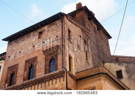 Medieval Palace In Mantua City