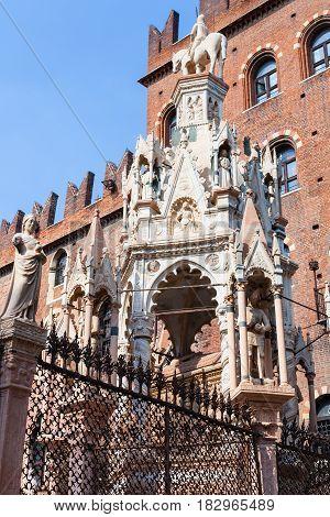 Gothic Style Tomb Of Cansignorio Della Scala
