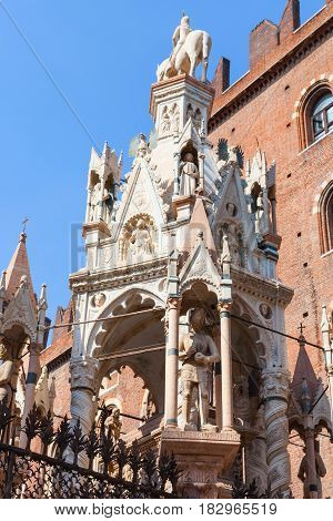 Gothic Style Tomb Of Cansignorio In Verona
