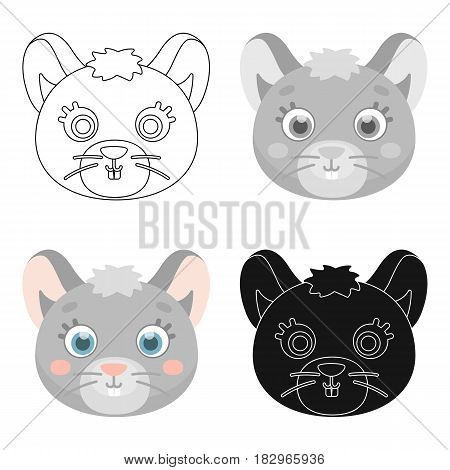 Mouse muzzle icon in cartoon design isolated on white background. Animal muzzle symbol stock vector illustration.