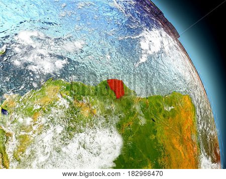 French Guiana From Space