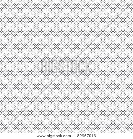 Vector seamless pattern. Modern stylish texture. Repeating strips from rhombuses with decreasing contour thickness. Geometric illustration for your design
