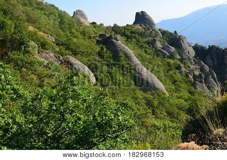 Stone Ghost Valley On The Crimean Peninsula