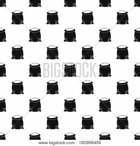 Sack full of flour pattern seamless in simple style vector illustration