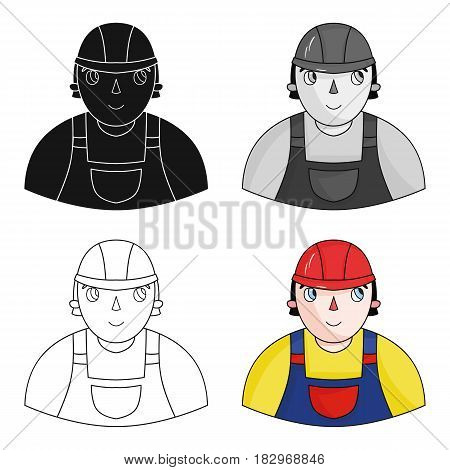 Foreman icon in cartoon design isolated on white background. Architect symbol stock vector illustration.