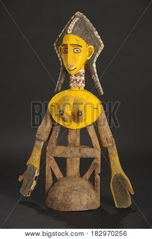 Sikasso, Mali - 14 May 2012: Bamana ceremony puppet of Mali
