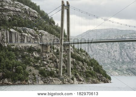 Lysefjord Bridge Up Close View From Beneath Norway