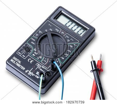 electronic measuring tool isolated on white background