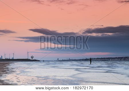 Water Rushes In On Crosby Beach