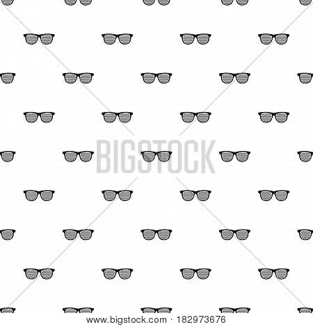Black pinhole glasses pattern seamless in simple style vector illustration