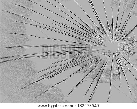 Broken glass , Relief explosion , Relief cracked glass