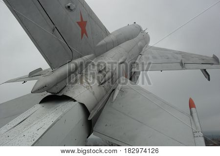 Airplanes - A monument of old combat planes near the town of Omurtag, Bulgaria