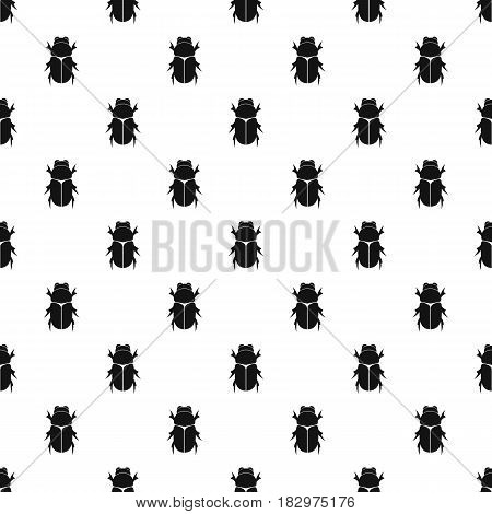 Chafer beetle pattern seamless in simple style vector illustration poster