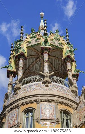 Tower of the La Rotonda is a building modernist located on the corner of Paseo de San Gervasio in Barcelona Spain