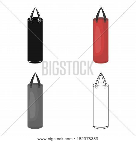 Boxing punching bag icon in cartoon style isolated on white background. Boxing symbol vector illustration.