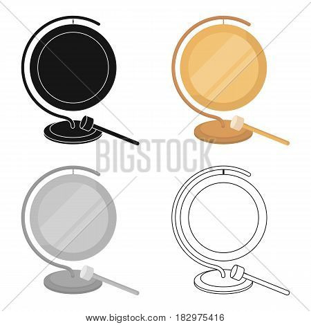 Boxing gong icon in cartoon style isolated on white background. Boxing symbol vector illustration.