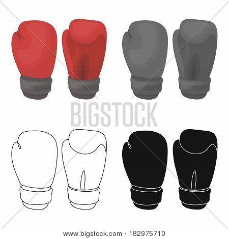 Boxing gloves icon in cartoon style isolated on white background. Boxing symbol vector illustration.