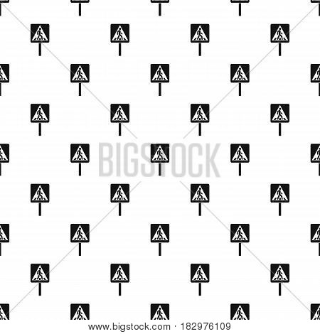 Pedestrian sign pattern seamless in simple style vector illustration