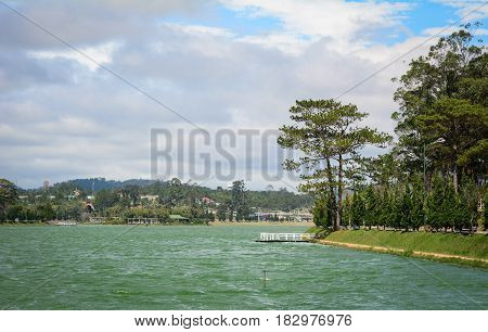 Lake Scenery In Central Highlands, Vietnam