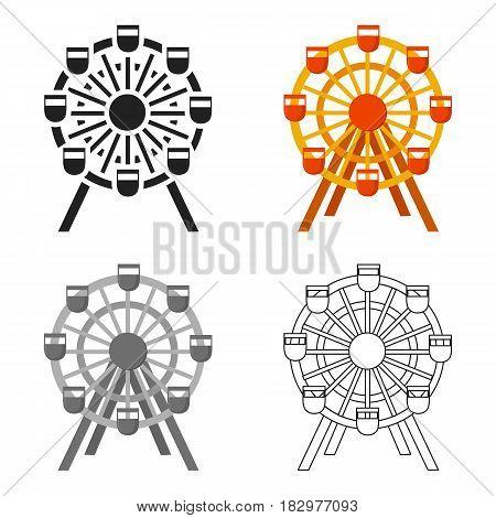 Ferris wheel icon cartoon. Single building icon from the big city infrastructure cartoon.