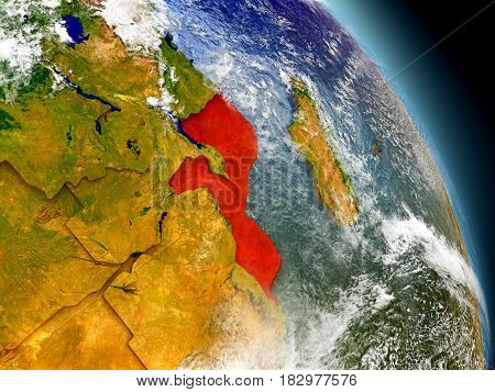 Mozambique From Space