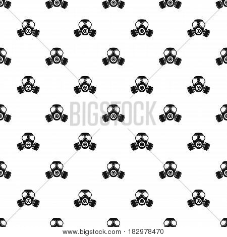 Chemical gas mask pattern seamless in simple style vector illustration