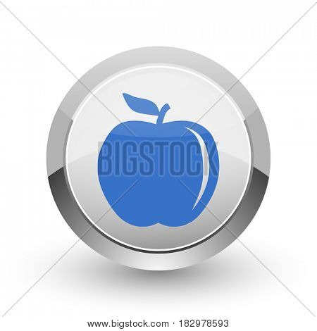 Apple chrome border web and smartphone apps design round glossy icon.