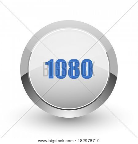 1080 chrome border web and smartphone apps design round glossy icon.