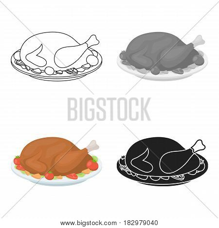 Pumpkin icon in cartoon style isolated on white background. Canadian Thanksgiving Day symbol vector illustration.