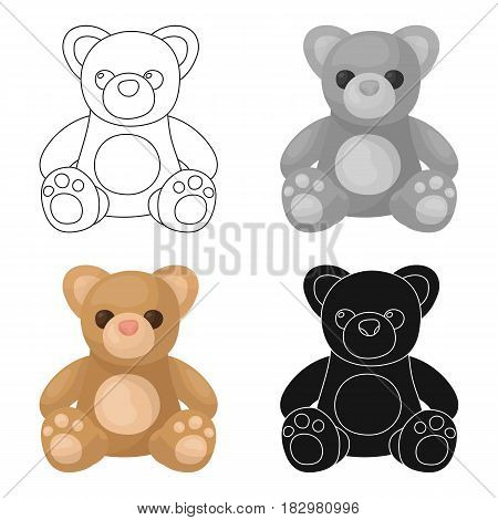 Toys donation icon in cartoon design isolated on white background. Charity and donation symbol stock vector illustration.