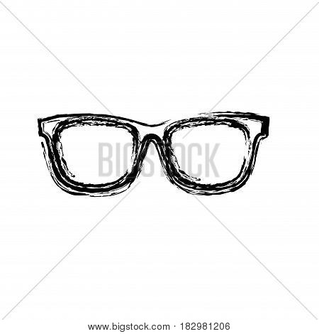 glasses icon over white background. vector illustration